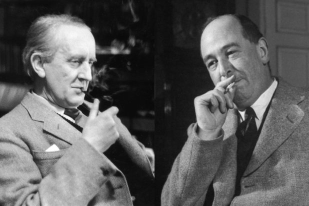 Tolkien e Lewis - Fonte: http://www.thewrap.com/tolkien-lewis-why-i-chose-to-tell-this-fascinating-story-guest-blog/