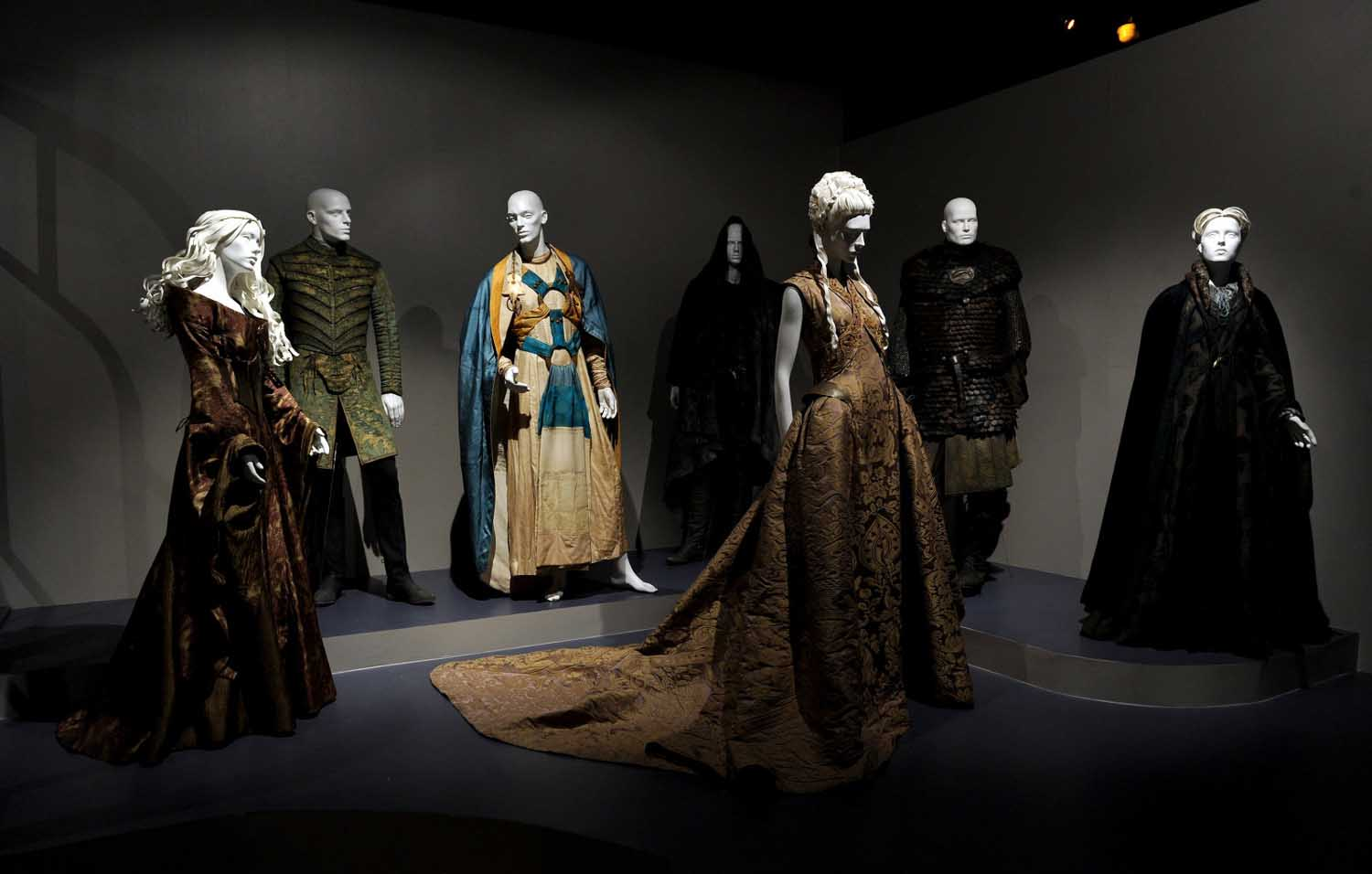"Costume designs from ""Game of Thrones"" at the Academy of Television Arts & Sciences 65th Primetime Emmy Awards Costume Design & Supervision Nominee Reception & 7th Annual FIDM Museum & Galleries ""The Outstanding Art of Television Costume Design"" Exhibition Preview at the Fashion Institute of Design & Merchandising on Saturday, July 27, 2013 in Los Angeles, Calif. (Photo by Frank Miicelotta/Invision for Academy of Television Arts & Sciences/AP Images)"